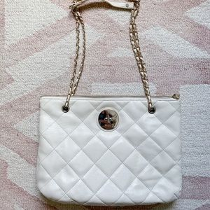 Brand new cream quilted DKNY shoulder bag